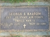 George Edward Balsom Military Marker